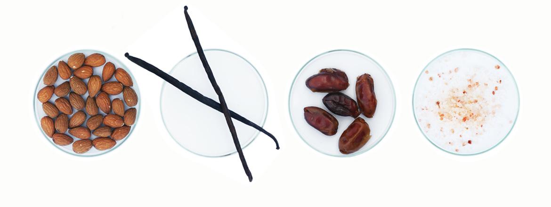Mandel-Nichtmilch Vanille Zutaten
